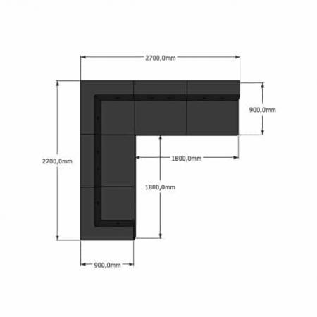 Nomad Dot modulsofa, 5 moduler
