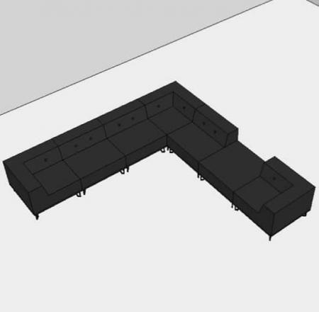 Nomad Dot modulsofa, 7 moduler