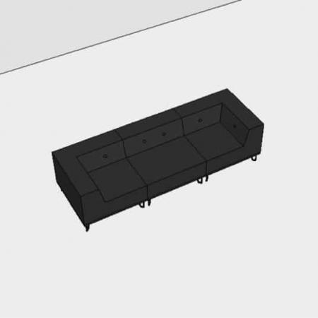 Nomad Dot modulsofa, 3 moduler