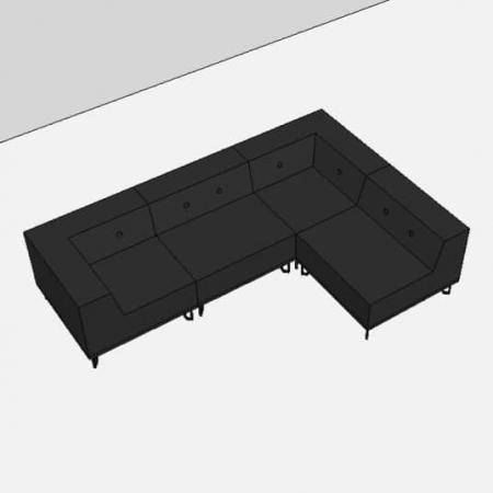 Nomad Dot modulsofa, 4 moduler
