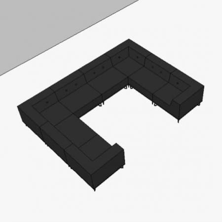 Nomad Dot modulsofa, 8 moduler