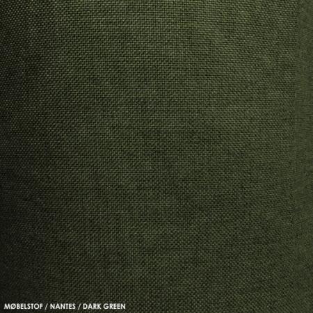 Møbelstof, nantes, darkgreen