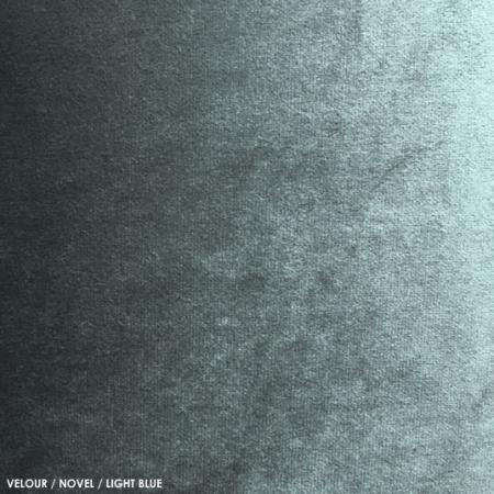 Velour, novel, light blue