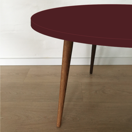 Circle sofabord, Burgundy