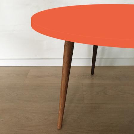 Circle sofabord, Orange blast