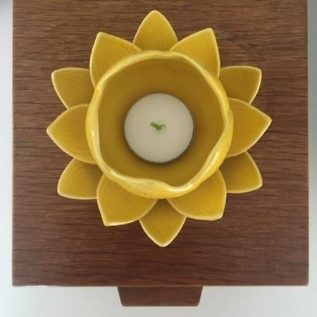 RETRO - Lotus blomst, keramik